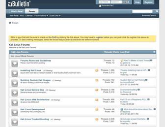 forums.kali.org screenshot