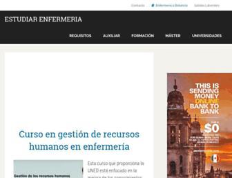 estudiarenfermeria.org screenshot