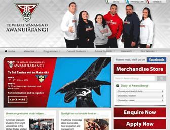 Main page screenshot of wananga.ac.nz