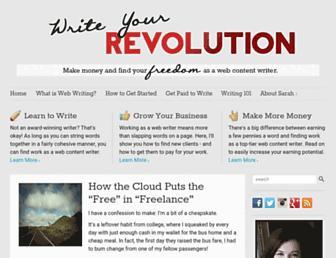 writeyourrevolution.com screenshot
