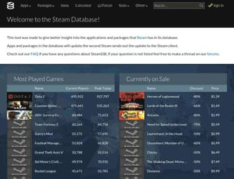 Thumbshot of Steamdb.info
