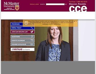 mcmastercce.ca screenshot