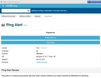 ping-alert.en.lo4d.com screenshot