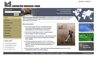 Main page screenshot of cif.org