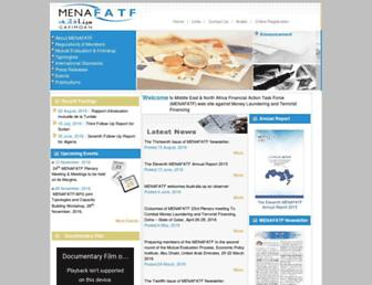 menafatf.org screenshot