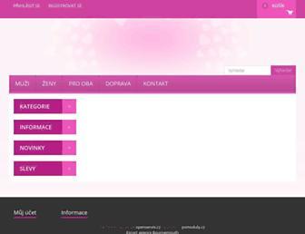Main page screenshot of divoke-zeny.cz