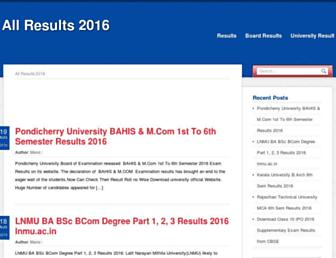 allresults2016.in screenshot