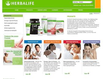 Main page screenshot of produkte.herbalife.de