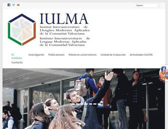 Main page screenshot of iulma.es