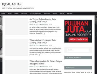 iqbalazhari.com screenshot