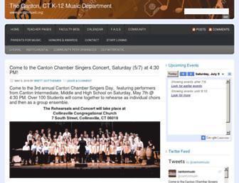 cantonmusic.org screenshot