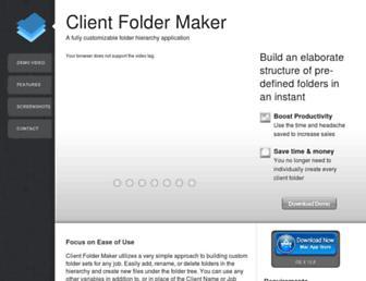 clientfoldermaker.com screenshot
