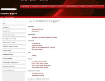 support.jvc.com screenshot