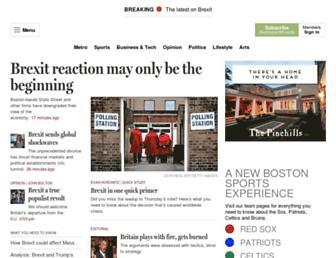 bostonglobe.com screenshot