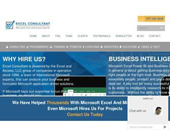 excelconsultant.net screenshot