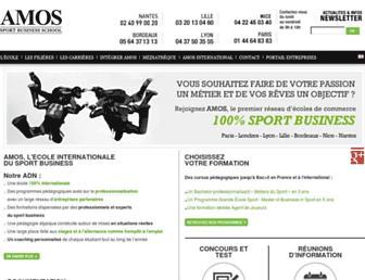 amos-business-school.eu screenshot