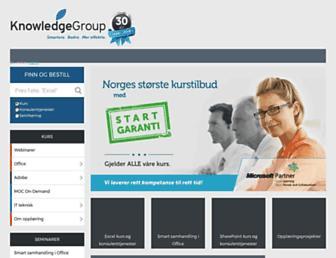 knowledgegroup.no screenshot