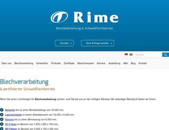 rime.de screenshot