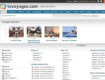 tsvoyages.com screenshot