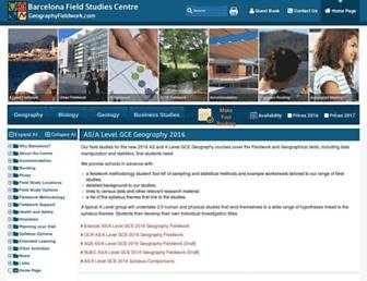 geographyfieldwork.com screenshot