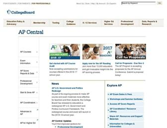 apcentral.collegeboard.org screenshot