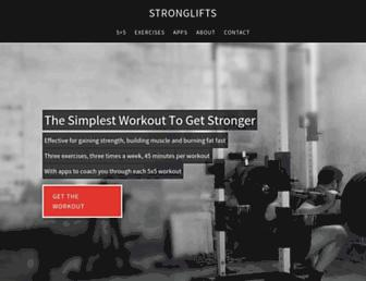 Thumbshot of Stronglifts.com