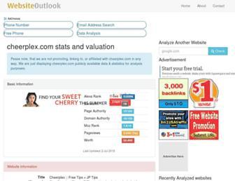 cheerplex.com.websiteoutlook.com screenshot