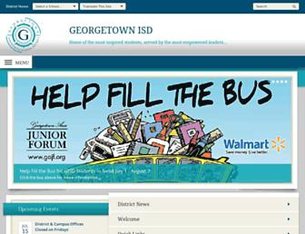 georgetownisd.org screenshot