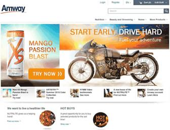 Main page screenshot of amway.gr