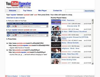 youtuberepeater.com screenshot