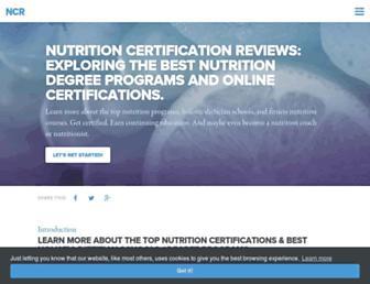 nutritioncertificationreviews.com screenshot