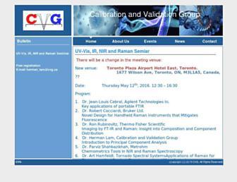 Main page screenshot of cvg.ca