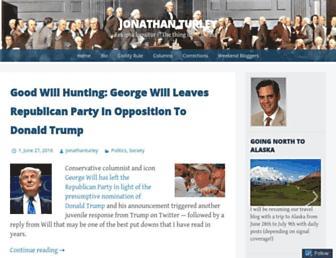Main page screenshot of jonathanturley.org