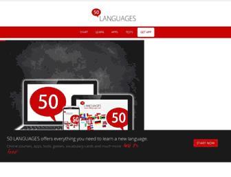 50languages.com screenshot