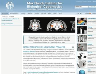 Main page screenshot of hirnforschung.kyb.mpg.de