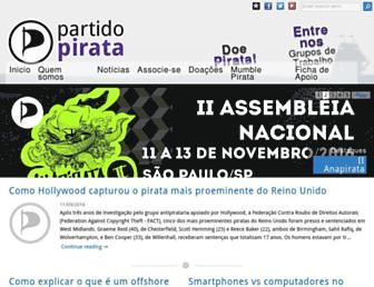 Main page screenshot of partidopirata.org