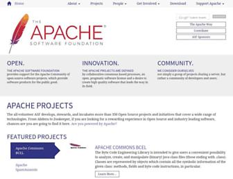 Main page screenshot of apache.org
