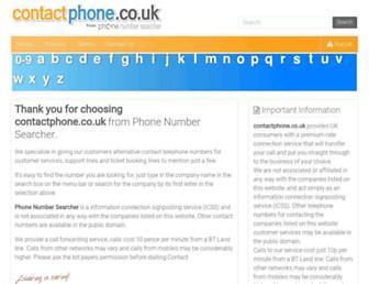 contactphone.co.uk screenshot