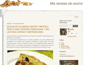 recetascarmelilla.blogspot.com screenshot
