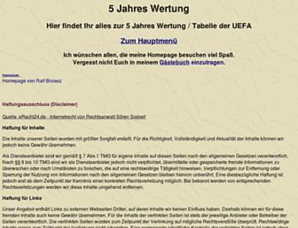 Main page screenshot of 5-jahres-wertung.de