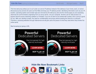 hidemenow.net screenshot