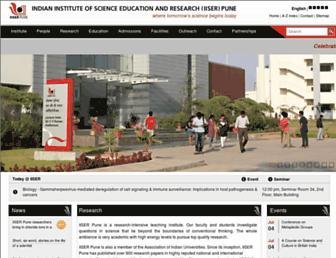 iiserpune.ac.in screenshot