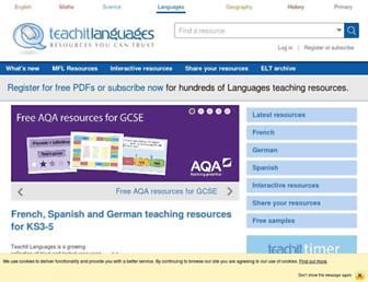 teachitlanguages.co.uk screenshot