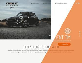 dezent-wheels.com screenshot