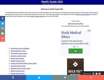 Fullscreen thumbnail of healthguideusa.org
