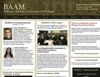 Main page screenshot of baam.emich.edu