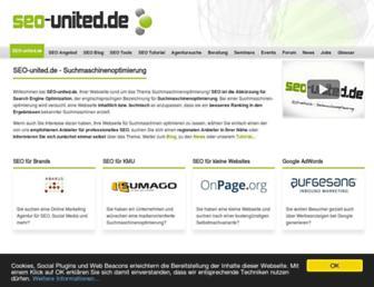 Main page screenshot of seo-united.de