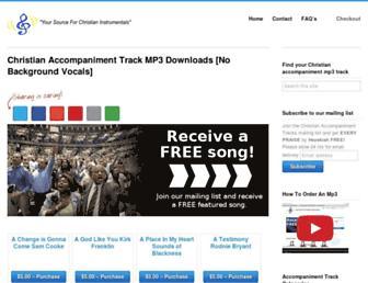 christianaccompanimenttracks.net screenshot
