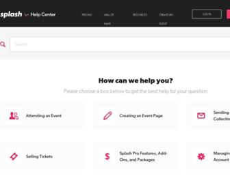 support.splashthat.com screenshot