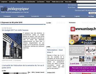 Main page screenshot of cafepedagogique.net